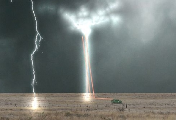 Risultati immagini per lightning control using lasers